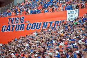 """Catch a game at """"The Swamp!"""" One of the greatest stadiums in the college football- be sure to get your tickets to see the Gators in action at Ben Hill Griffin Stadium. #Gatorzone #OCL"""