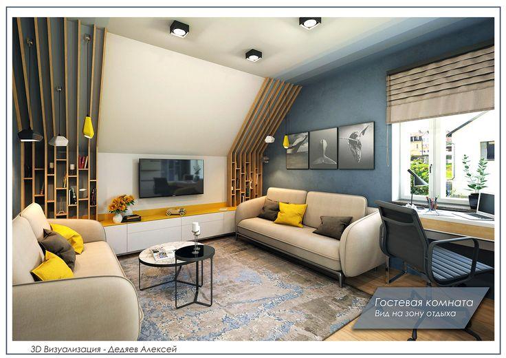 Ознакомьтесь с моим проектом в @Behance: «Гостевая комната в коттедже» https://www.behance.net/gallery/43588505/gostevaja-komnata-v-kottedzhe