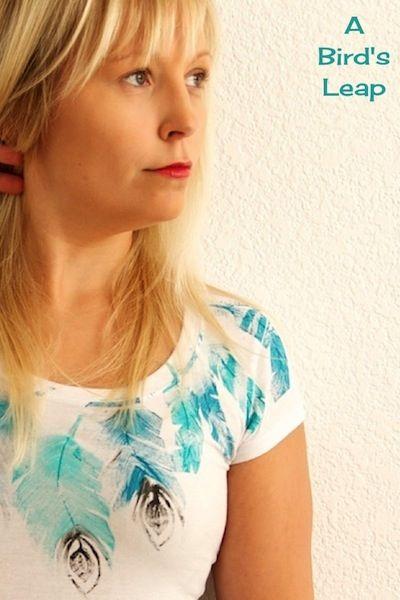 Птичья тема: перья на футболке
