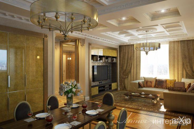 Интерьер квартиры в стиле ар-деко: интерьер, квартира, дом, гостиная, ар-деко, 30 - 50 м2 #interiordesign #apartment #house #livingroom #lounge #drawingroom #parlor #salon #keepingroom #sittingroom #receptionroom #parlour #artdeco #30_50m2 arXip.com