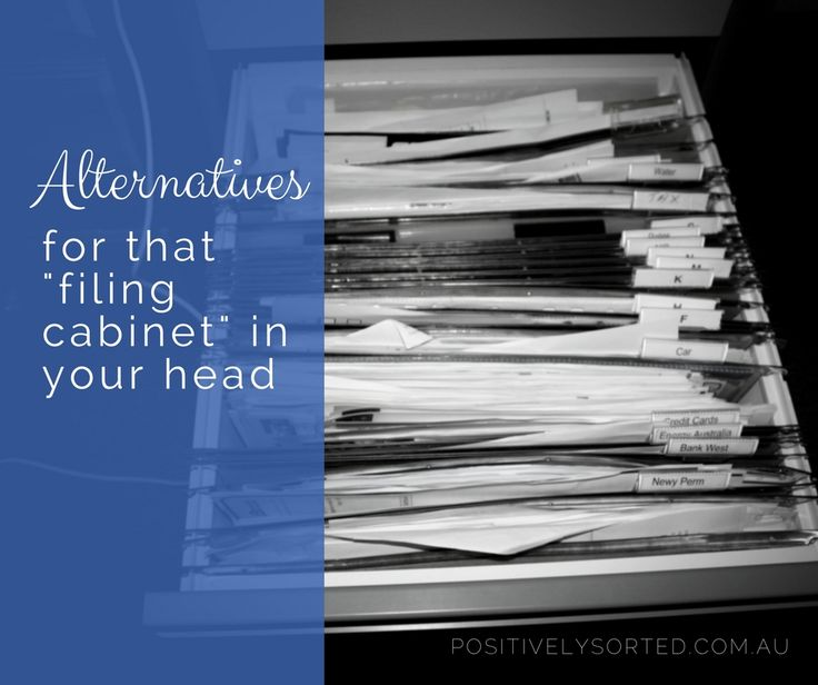 Just like we store our documents in a filing cabinet, each labelled and  categorised, we use our brains to store our everyday thoughts, our goals,  our memories and our subconscious musings. That's a lot of stress on one  poor brain.