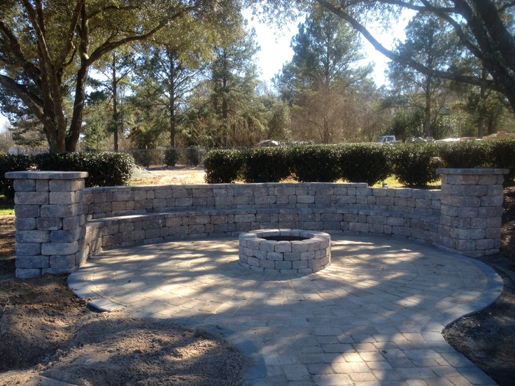 how to build a fire pit seating area
