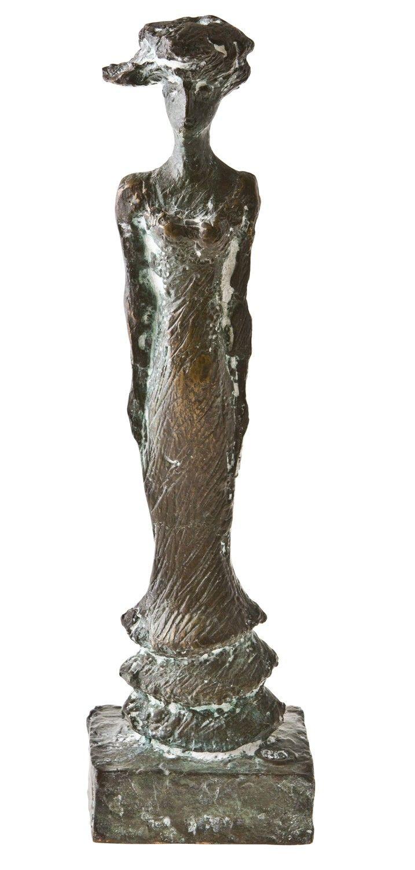 Kari Juva: Juhlapäivä, 2000, pronssi, k. 51,5 cm, edition II/V - Hagelstam K136
