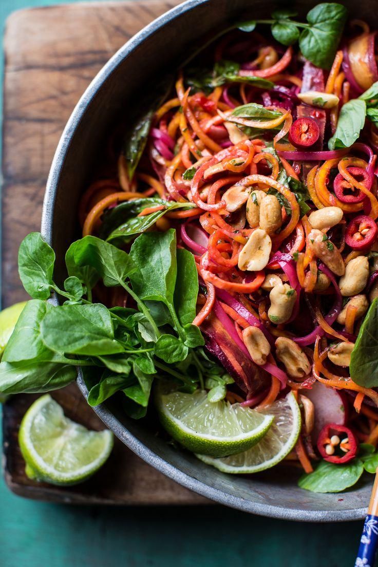 Rainbow Veggie Pad Thai Noodles | halfbakedharvest.com @hbharvest