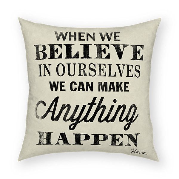 Sure to bring a smile, this throw pillow is a great inspirational gift.