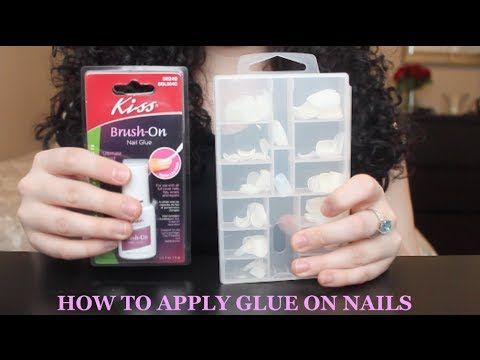 Tutorial: How to Apply Glue On Nails & Make Them Last! - YouTube