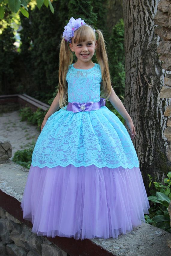 Vestido de niña de las flores cumpleaños de por KingdomBoutiqueUA