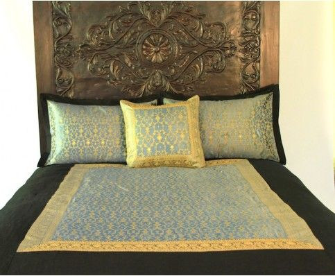 scroll headboard carved bedshand - Hand Carved Bedroom Furniture
