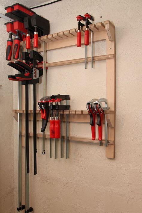 Regal für Schraubzwingen selber bauen (Schraubzwingenregal / Zwingenregal / DIY…