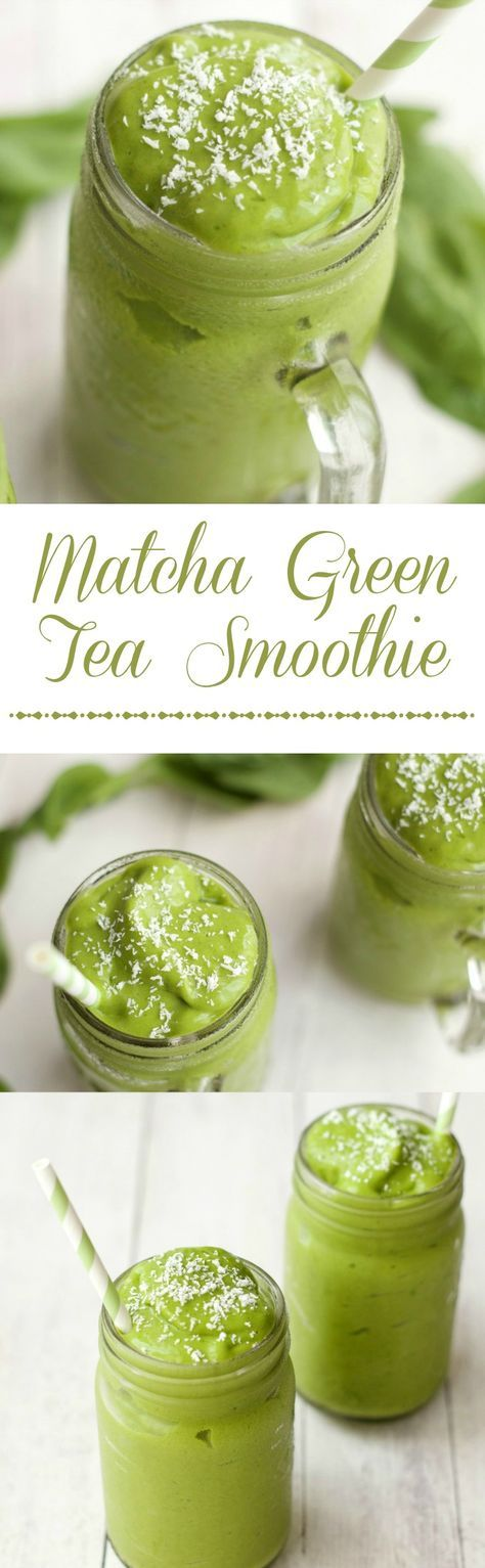 Matcha Green Tea Smoothie, quick and easy 5-Ingredient recipe.