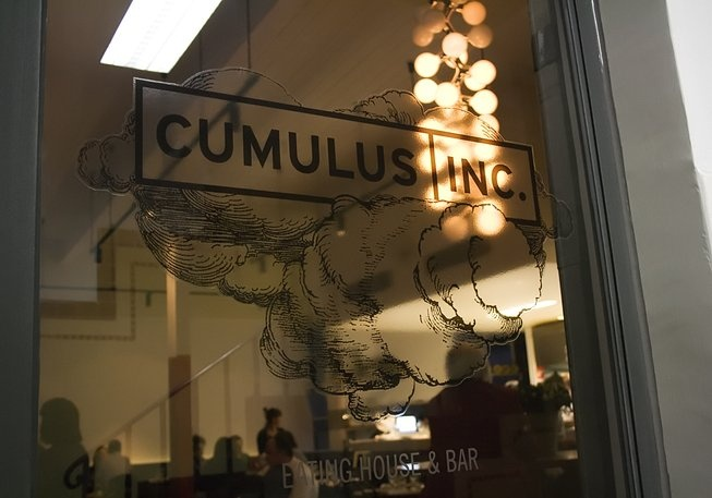 Cumulus Inc. 45 Flinders Ln. CBD If you don't know the dream team – chef Andrew McConnell and architect partner Pascale Gomes-McNabb – then now's a good time to acquaint yourself. Why? Because their unique combination of excellent food and interior design has been taking this city by storm? Cumulus Inc. is a case in point; described as an 'eating house and bar' rather than a restaurant, this is a welcoming and relaxing place to enjoy McConnell's widely acclaimed food.