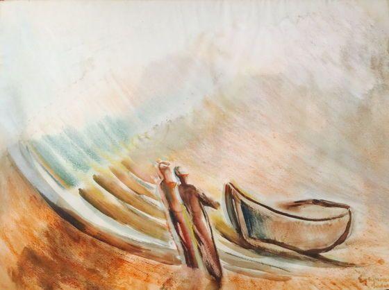 Egry József: Balatoni halászok - Pintér Aukciósház