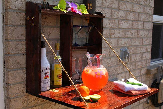 Hazlo tú mismo: un pequeño bar para la terraza