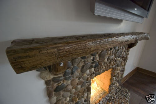 Reclaimed Hand Hewn Barn Beam Mantel Mantle Lumber | eBay