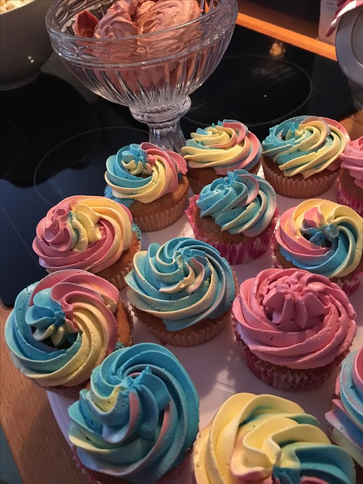 Unicorn cupcakes. Vanilla with vanilla filling