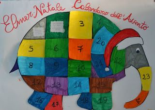 #nataleincasatrippando Il #Calendario dell'#Avvento #faidate: Elmer calendario | #MammaMoglieDonna