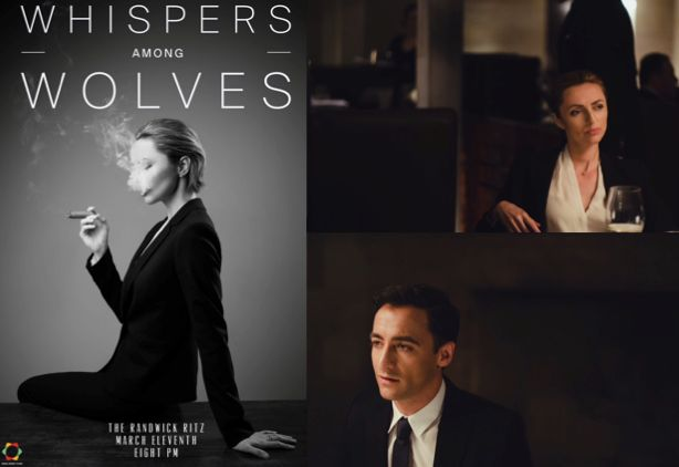 """'Whispers Among Wolves' marks Kevin Lim's third outing as writer-director for Soda Honey Films. It explores the co-dependent relationship between two workaholics (Sarah Aubrey, Matthew Backer) during their weekly business dinner meeting.  Lim said: """"I wanted to examine a moment between two characters who are broken from their loyalty to each other and left to question what remains in their lives."""" B&T Magazine, 15 May 2015"""