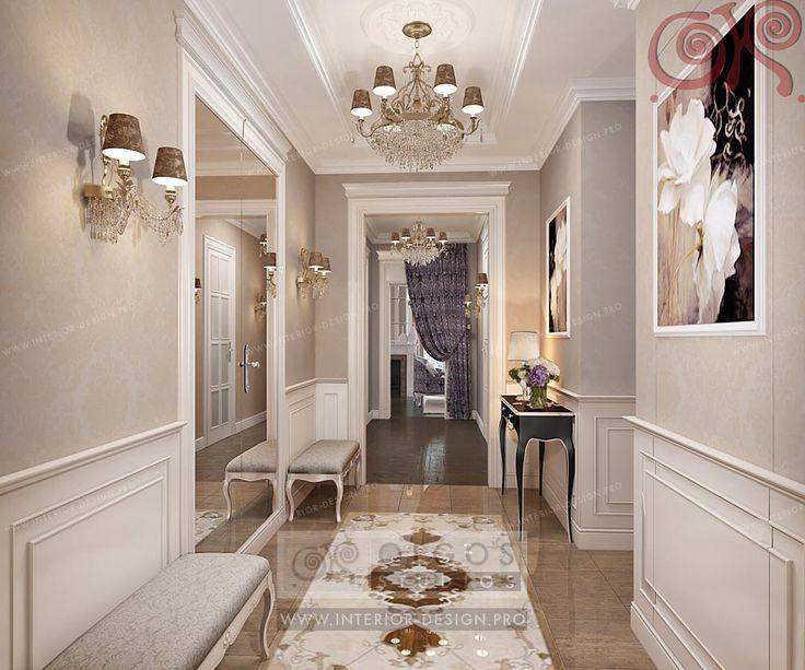 hall neoclassic art deco  http://interior-design.pro/en/hallway-interior-design