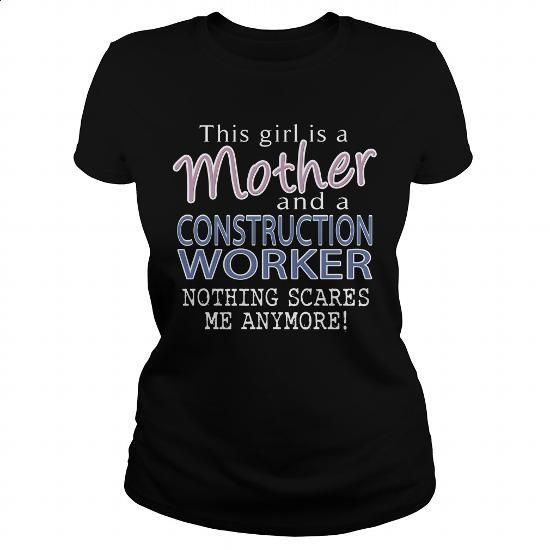 CONSTRUCTION WORKER - MOTHER - #blank t shirts #graphic tee. ORDER HERE => https://www.sunfrog.com/LifeStyle/CONSTRUCTION-WORKER--MOTHER-Black-Ladies.html?id=60505