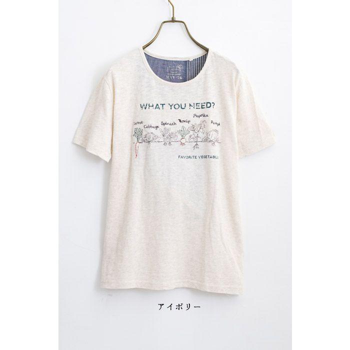 【楽天市場】【ベジタブルプリントTシャツ】レディース/トップス/Tシャツ/刺繍/プリント/綿100%/ナチュラル/半袖:GEARLABO