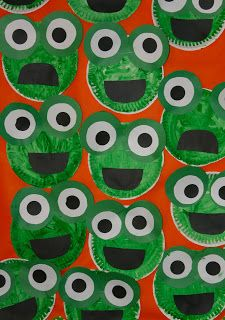 Frog craft from Nancy Nolans Kindergarten Animal descriptions Setting character…