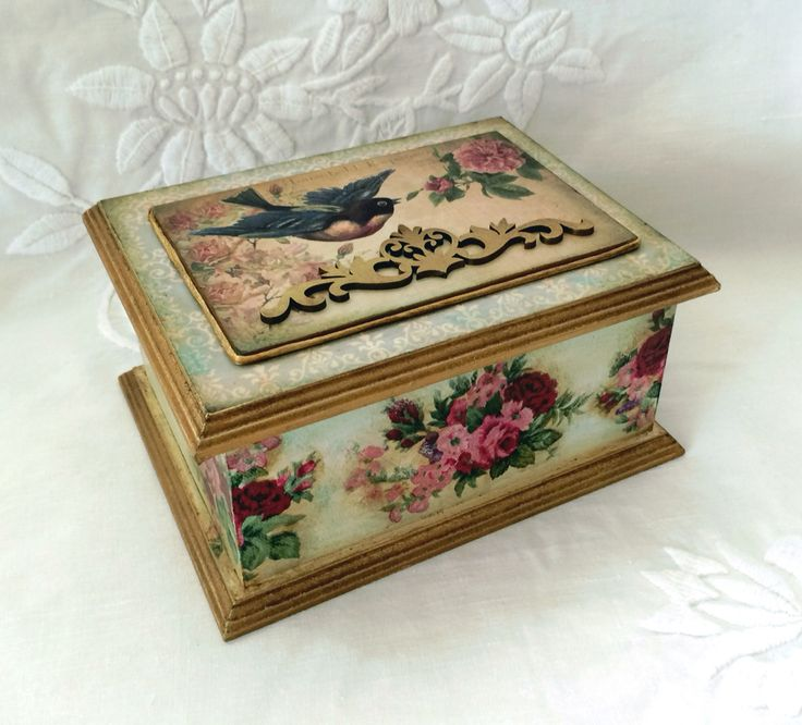 How To Decorate Boxes 564 Best Decorated Boxes Images On Pinterest  Decorated Boxes