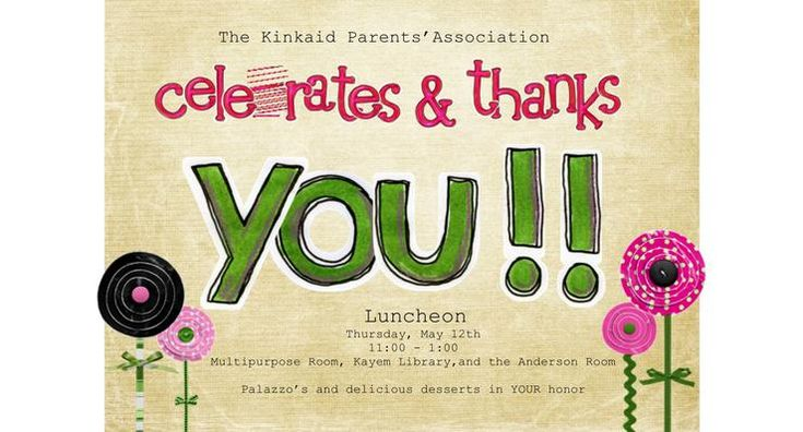 Luncheon Invitations for Teachers | Desserts for Faculty ...