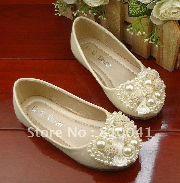 Free Shipping 5 Pairs Baby Shoes Children Girl's Kids Beading Pearls Loving Heart  Bow Party Shoes Step-in Flats 0801003-BSO on AliExpress.com. $92.08