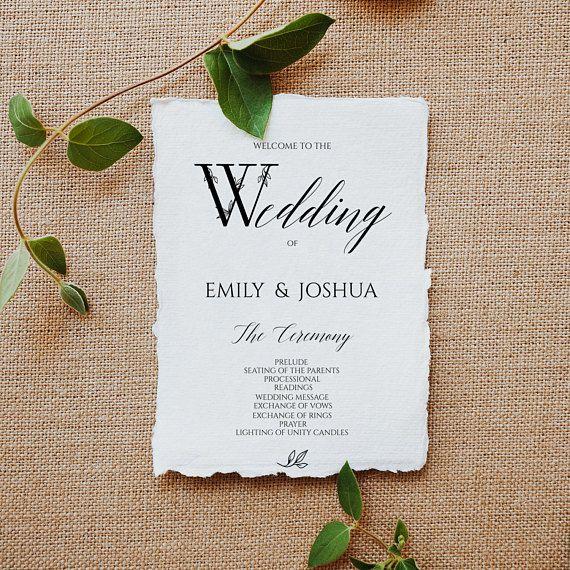 Wedding Program Template,  Printable Wedding #weddings #invitation @EtsyMktgTool #weddingprograms #pdf #weddingprogram #programtemplate