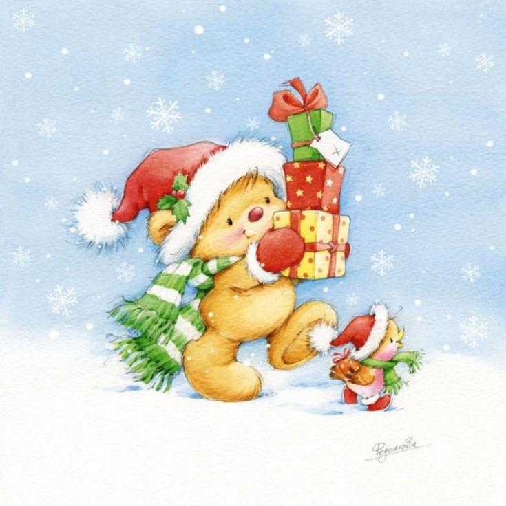 Новогодние открытки картинки детские