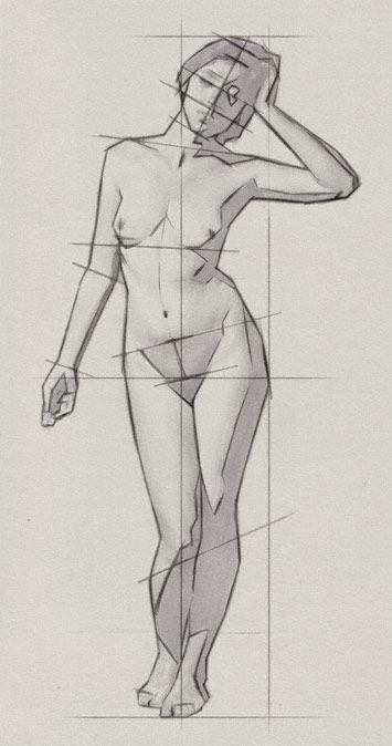 Today's Drawing Class 101: Understanding body proportions || Drawing the Proportions of the Human Body