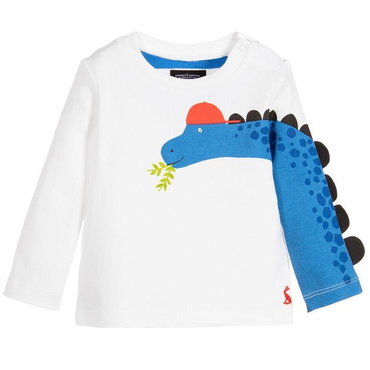 Joules - Baby Boys Dinosaur 'Zayn' Top |