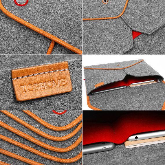 Notre prix ne comprend pas les taxes. cet emballage est: 1 sac de mini x iPad.  Description:  Lla simple mais pourtant moderne manches en 100 % laine naturelle ressenti qui est 3-4mm dépaisseur. Il fournit la protection parfaite contre la poussière, des rayures et des chocs légers. Équipé dune courroie élastique pour empêcher votre iPad mini de glisser dehors.  La laine est un matériau 100 % naturel qui verse leau et peut protéger votre matériel comme peu dautres matériaux. Cest un matériau…