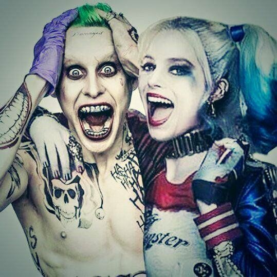 Jared Lego & Margot Robbie as the Joker and Harley Quinn from the movie Suicide Squad