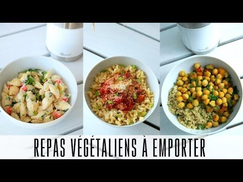 Repas à Emporter au travail #2 |  Végétariens / Végétaliens  + option sans micro-onde - YouTube