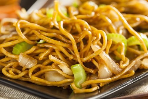 it's surprisingly easy to make chow mein at home! This recipe cooks the sauce and vegetables first in the crockpot, then shows you step--by-step how to pan fry the noodles later.
