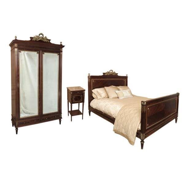Antique Furniture   Antique Bedroom Furniture   Antique Bedroom Sets   Antique French Louis XVI Bedroom Set (Signed Bastet)   www.inessa.com