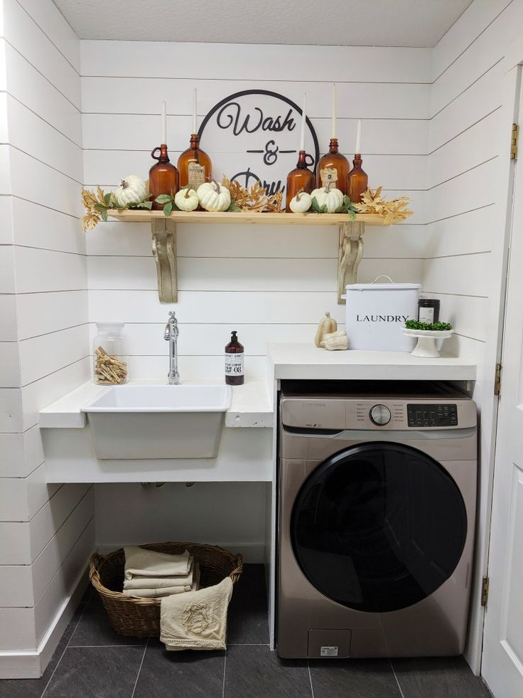 Pin on fall thanksgiving laundry room with samsung