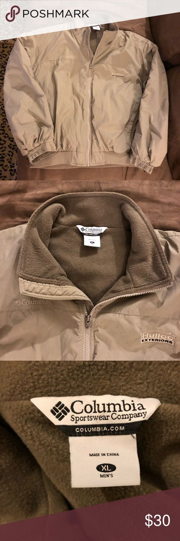 Columbia Tan Fleece Lined Bomber Jacket XL Columbia Solid Tan Fleece Lined Bomber Jacket size XL! Great condition! Please make reasonable offers and bundle! Ask questions! Columbia Jackets & Coats Bomber & Varsity