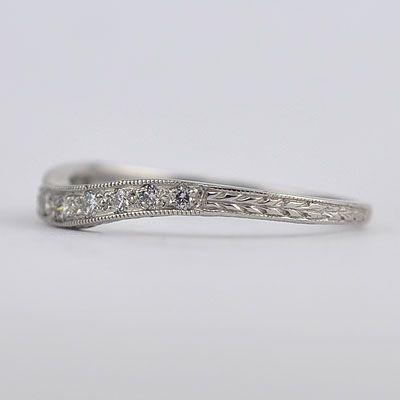 Art-Deco Style Curved Band    US$1,050