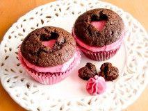 Veldig knust hjerte doble sjokolademuffins | Det søte liv