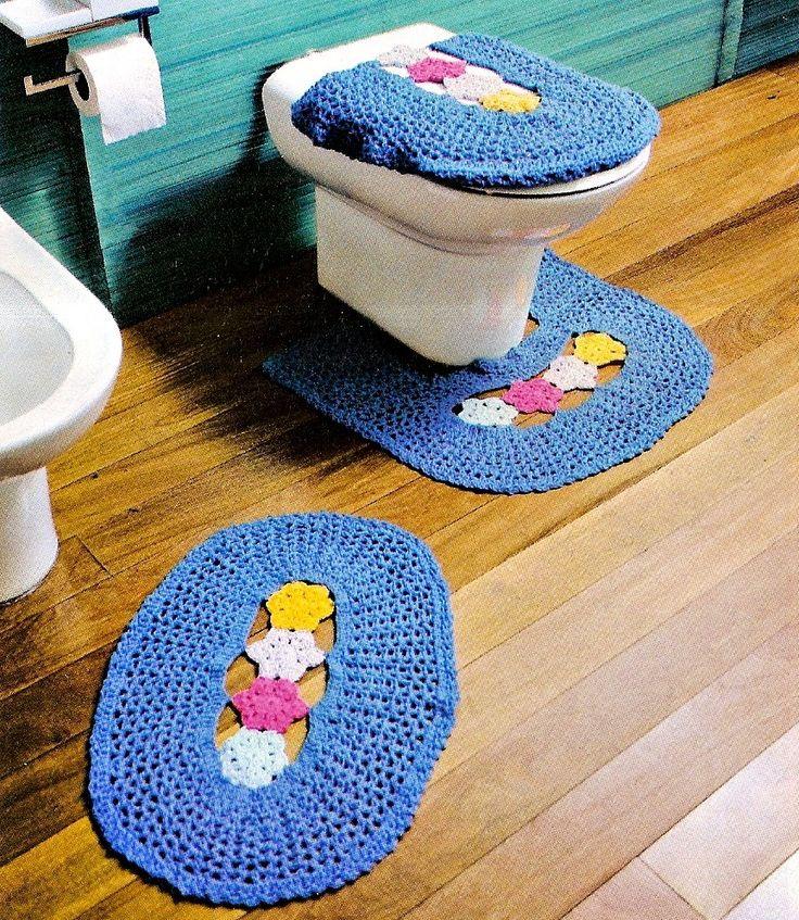 Juegos De Baño A Gancho:imágenes sobre Juegos de baño en crochet en Pinterest