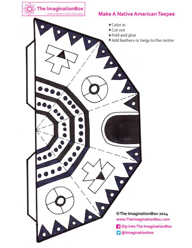 199 best kids native american arts crafts images on for Teepee craft template