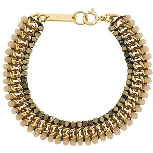 Isabel Marant 'Kaya' bracelet (8,100 INR) ❤ liked on Polyvore featuring jewelry, bracelets, metallic, isabel marant, metallic jewelry and isabel marant jewelry