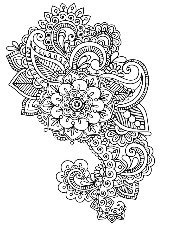 Pin by sharon shultz on coloring pages pinterest for Henna coloring pages