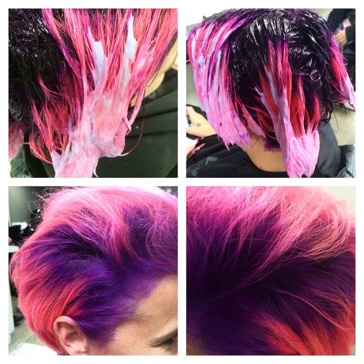 Purple & pink! Dare to be different. Make your own story, be brave! #goldwell #elumen