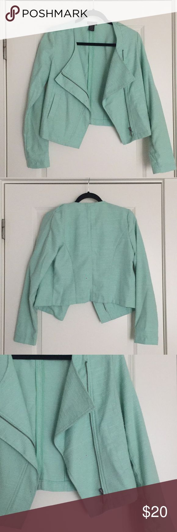 Mint Blazer This lightly worn mint blazer is great to thrown on over dresses or to pair with some jeans! Perfect statement jacket! Jackets & Coats Blazers