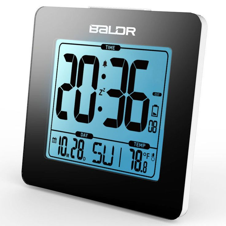 BALDR B0114ST Thermometer Table Calendar Digital Snooze Alarm Clock Indoor Temperature Tester Blue Backlight Sale