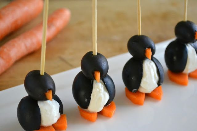 Liven up your next gathering with some real party animals! These delicious olive cocktail penguins and radish mice are too cute for words!