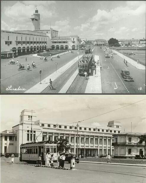 Trem listrik di Soerabaia